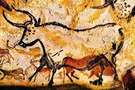 Kleuren verf bij grotschilderingen in de prehistorie